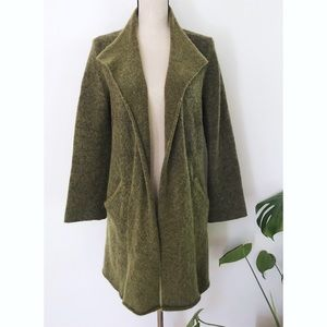 Eileen Fisher Mohair Cashmere Open Long Cardigan
